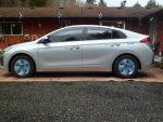 IONIQ hybrid Blue wheel covers